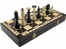 X L  CARVING   WOODEN  CHESS  SET WOOD