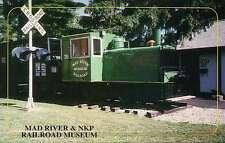Mad River & NKP Railroad Museum, Switcher, Bellevue, Ohio --- Train Postcard