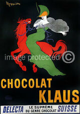 Chocolat Klaus Cappiello Vintage Ad Poster Print -24x36