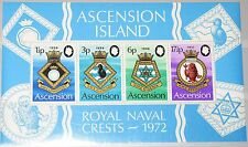 ASCENSION 1972 Block 4 S/S 159a Schiffswappen Royal Navy Coat of Arms Ships MNH