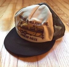 Vintage Trailor Sales Snapback TRUCKER HAT Mesh Made in USA