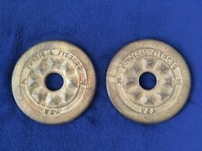 Vintage Two 2.5 lb Physical Fitness Usa Standard Weight Plates Weights Plate