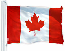 G128 - Canada (Canadian) Flag 3x5 FT Printed Brass Grommets 150D Polyester