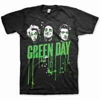 Green Day T Shirt Drips Official Black Mens Unisex Tee Classic Punk Rock New