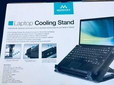 Merkury Innovations Laptop Cooling Stand Metal Mesh Surface With Silent Fan Pads