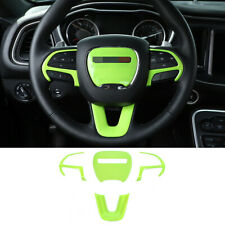 4×Light Green ABS Steering Wheel Cover Trim For Dodge Challenger Charger 2015-21