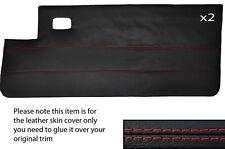 RED Stitch 2x COMPLETO PORTA CARD IN CUOIO PELLE COPERTURA adatta per PEUGEOT 205 CJ Cabrio