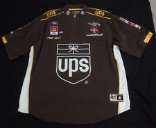 Chase Authentic Nascar UPS Good Year Ford Coca Cola 1/2 Zip Brown Mens Size XL