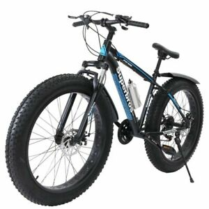 """26"""" Fat Tire Mountain Bike 21-Speed Bicycle High-Tensile Steel Frame Off-road T9"""