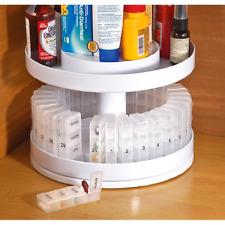 Organizer Medicine Rotating Pill Daily Center Bottle Carousel Revolving Holder