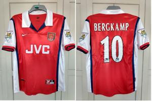 Arsenal 1998 Shirt 1999 BERGKAMP 10 jersey JVC HOLLAND SIZE MEDIUM