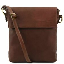 Tuscany Leather 'MORGAN' Italian Leather Messenger Bag in Brown RRP £ 63