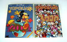 NUOVI (2013) Topolino 2000 + 3000 variant GOLD cop. METALLIZZATA ORO Disney 1000