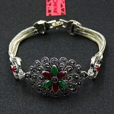 Betsey Johnson Fashion Jewelry Unique Flower Gemstone Bangle Bracelet