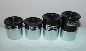 "Set of Four 1.25"" Eyepiece Lens for TELESCOPE, 4/8/12.5/20mm, BNC, £9.99 Auction"