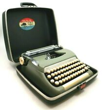 Vintage Smith Corona Sterling SEAFOAM Green Typewriter w/ Case **Fully Tested**