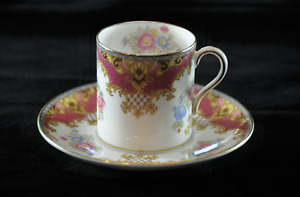 """Shelley English 'Sheraton' Pink Coffee Can & Saucer 13289 """"As New"""" condition"""