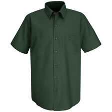 Red Kap Short Sleeve 100% Cotton Industrial Work Shirt Spruce Green SP40 L Large