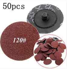 50 pcs 2 Inch 120Grit Roloc R Type Roll Lock Sanding Abrasive Disc Cookie