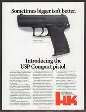 1997 HECKLER & KOCH HK USP Compact Pistol PRINT AD Collectible Gun Advertising
