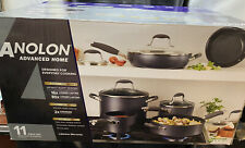 Anolon Advanced Home Hard Anodized Nonstick 11pc Cookware Set - Moonstone New