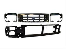 For 1992-1996 F150 F250 Front Header Panel Grille Headlight Bezel Painted 4Pcs