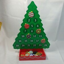 Melissa & Doug Countdown to Christmas Wooden Advent Calendar Magnetic Tree