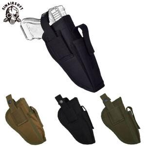 Universal Tactical Pistol Holster Magazine Waist Belt Right Left Hand Gun Holder