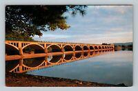 Shokan NY, Ashokan Bridge & Reservoir Chrome New York Postcard