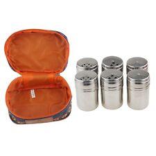 Camping Salt & Pepper Shaker Seasoning Spices Holder Dispenser 6pcs/Set