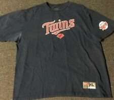 huge discount 2324a a2590 Vtg 90s Nike Minnesota Twins Shirt XL Navy MLB Baseball Kirby Puckett Joe  Mauer