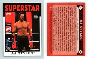 AJ Styles #1 WWE Heritage 2016 RC Rookie Topps Trading Card
