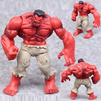 "5"" Avengers Comic Hero PVC The Red Hulk Action Figure Statue Collection Hot Toys"