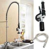 Commercial Kitchen Faucet Pre-Rinse Tap Spray Head Sprayer with Flexible Hose