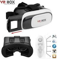 3D VR BOX Headset Virtual Reality Video Glasses + Bluetooth Game Remote Control