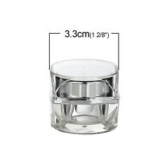 Make Up Cream Jars Container Empty Cosmetic Sample Travel Acrylic 5g
