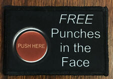 Free Punches to the Face Morale Patch Tactical Military Army Funny Hook Flag USA