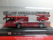 Feuerwehr Del Prado 180 Nikki Sky Action Ladder 2003 Japan (068/16)