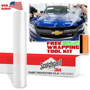 "4""x12"" PPF 3M Scotchgard Paint Protection Film Pro Series Gloss Clear Bra Vinyl"