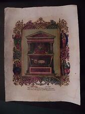 M Santa Giustina Vergine Trieste Arzano litografia originale 1850 Apicella