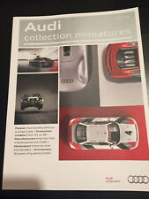 CATALOGUE 2014 AUDI COLLECTION MINIATURES MOTORSPORT MODELS A1 TO R8