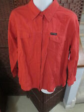 NWT Women's Harley-Davidson Button Front Shirt Coral Long Sleeve Size 1W 18-20