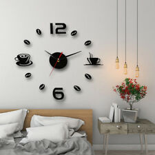 modern art diy wall clock 3d self adhesive sticker design home office room HLUK