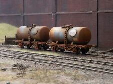OO gauge abandoned Tankers, heavily rusted and weathered. Ref 1