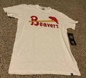Portland Beavers MiLB Shirt Retro Men's Size: Large NWT White Wash Scrum