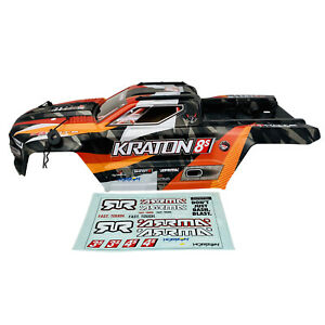Arrma Kraton 8S Orange/Black Body Shell Bodyshell w Decals ARA409007 New