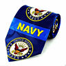 United States Navy Mens Neck Tie Military  US Naval Sailor Gift Blue Necktie
