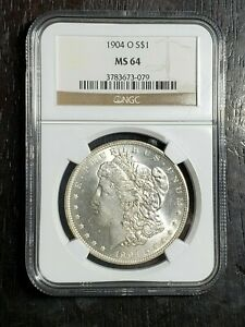 Beautiful 1904 O Morgan Silver Dollar NGC Graded MS 64