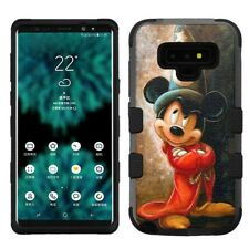 for Samsung Galaxy Note 9, Hard+Rubber Rugged Cover Case Mickey #FW
