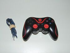 P3 Black & Red Strip Sony PlayStation 3 PS3 Wireless Controller Control Pad